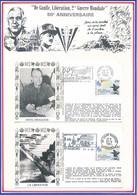 FRANCE - 3 ENVELOPPES 50EME ANNIVERSAIRE DEBARQUEMENT PROVENCE AVIGNON + SAINT NABORD NOIRGUEUX 8/9/1994 + TOULON - Guerre Mondiale (Seconde)