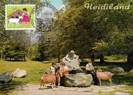 HELVETIA  SWISS HOTEL HEIDIHOF  MAXIMUM   POST CARD  (GENN201521) - Maximum Cards
