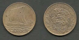 ESTLAND Estonia 1 Kroon 1934 Coin Wiking Ship - Estonie
