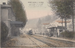 FRANCIA - REGNY (LOIRE) - STAZIONE - LA GARE - TRENO - VIAGGIATA - Francia