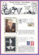 FRANCE - 3 ENVELOPPES 50EME ANNIVERSAIRE BATAILLE MORTAIN + LIBERATION NONTRON + LIBERATION DINARD - Guerre Mondiale (Seconde)