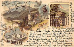 Sölden (Ötztal) Tirol - Gasthof Grüner - Litho. - Sölden