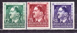 Germania1944 Occupazione Polonia-Hitler  Serie Completa Nuova MLLH - Germania