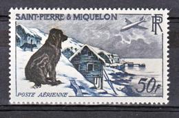Saint Pierre Et Miquelon PA  24 Chien Neuf ** MNH Sin Charmela Cote 57 - Luchtpost