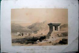 TURQUIE PAMBOUKKALESI  VUE DES ANCIENS TOMBEAUX   LITHOGRAPHIE ORIGINALE 1838  42 X 29 Et 31 X 21 Cm - Liban