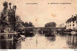 BRETENOUX . Le Pont Suspendu  Carte écrite En 1906  2 Scans - Bretenoux