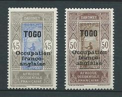 TOGO 1916 .N°s 95 Et 96 . Neufs * (MH) . - Neufs
