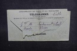 NIGER - Télégramme Pour Un Lieutenant Colonel De Zinder - L 51725 - Lettres & Documents