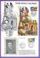 FRANCE - CARTE + ENVELOPPE 50EME ANNIVERSAIRE LIBERATION POCHE SAINT NAZAIRE + COMBATS DES MAQUIS AIN HAUT JURA NANTUA - Guerre Mondiale (Seconde)