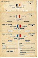 1902. LOT DE 4 CARTES AUX ARMEES. ARMEE D'AFRIQUE PAR AVION - Militari