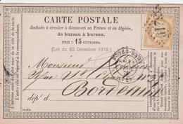 France Entier Postal Précurseur Rouen Gare 1876 - Entiers Postaux