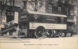 CPA 75 PARIS DEMENAGEMENTS RONDEAU WAGON CAPITONNE N°17 FERMANT A CLEF LONGUEUR 7 M 63 BD ST GERMAIN - Arrondissement: 06