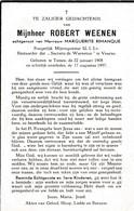 Tienen, Veurne, 1957, Robert Weenen, Rimanque - Images Religieuses