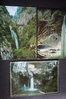 Spain, 7 PCs Lot /  Waterfall - Old Postcard - España