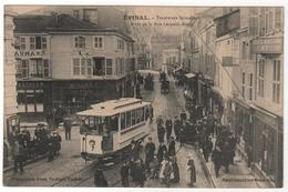 CPA 88 : EPINAL - Tramways Spinaliens - Arrêt De La Rue Léopold Bourg - Ed. Paul Testart - - Epinal