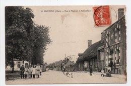 - CPA CLÉMONT (18) - Rue Et Place De La République 1914 (avec Personnages) - - Clémont