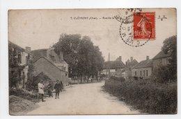 - CPA CLÉMONT (18) - Rue De La Gare 1919 (avec Personnages) - Edition E. Maquaire N° 7 - - Clémont