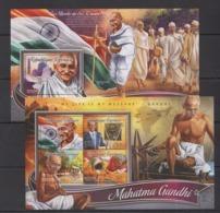 TG218 2016 TOGO TOGOLAISE GREAT HUMANISTS MAHATMA GANDHI KB+BL MNH - Mahatma Gandhi