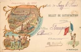 France - 75 - Paris Expo 1900 - La Martinique Et Billet De Satisfaction - Exhibitions