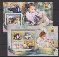 TG221 2016 TOGO TOGOLAISE ROYAL FIRST ANNIVERSARY BABY PRINCESS CHARLOTTE KB+BL MNH - Königshäuser, Adel