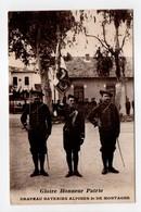 - CPA MILITAIRES - Gloire Honneur Patrie - Drapeau Bateries Alpines 2e De Montagne 1915 - Photo GILETTA - - Personaggi