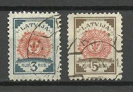 LETTLAND Latvia 1919 Michel 30 - 31 O - Lettland