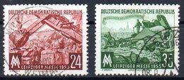 """(DDR-BM1) DDR """"Leipziger Herbstmesse 1953"""" Mi 380/81 Sauber Bedarfsgestempelt - Gebraucht"""