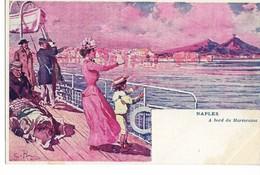 Rare NAPLES Italie A Bord Du Mareorama (attraction Exposition Universelle 1900)  Dos Non Divisé  ....  .G - Exposiciones