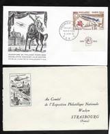 FDC Philatec 1964 . Enveloppe éditée Par Le Comité Organisateur Adressée à L'Expo Phila Nationnale Strasbourg . - 1960-1969