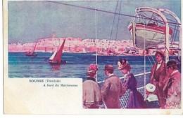 Rare SOUSSE Tunisie A Bord Du Mareorama (attraction Exposition Universelle 1900)  Dos Non Divisé  ....  .G - Exposiciones