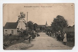 - CPA FRANXAULT (21) - Avenue De La Gare 1916 (belle Animation) - Edition Niot-Guigner - - Francia