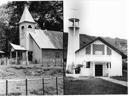 Photo Double Indonésie. Églises Chrétiennes Dans L' île De Samosir - Sumatra  Photo Vivant Univers - Plaatsen