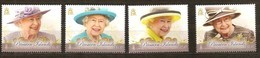 Pitcairn 2016 Yvertn° 871-874  *** MNH  Cote 23,00 Euro Reine Elizabeth II - Timbres