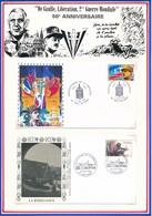 FRANCE - 2 ENVELOPPES + 1 CARTE CINQUANTENAIRE LIBERATION SUCY EN BRIE PARIS 1994/95 - Guerre Mondiale (Seconde)