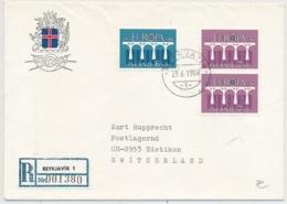 Island Europamarken R-Brief Ab Reykjavik Nach Dietikon Schweiz - Lettres & Documents