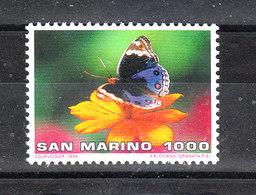 San Marino - 1996. Farfalla  Su  Fiore. Butterfly On Flower. MNH - Farfalle