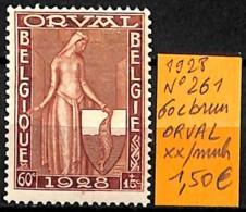 NB - [831154]TB//**/Mnh-Belgique 1928 - N° 261, 60c Brun ORVAL - Belgium