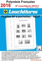 Feuilles Polynésie Française 2016 à Pochettes SF Leuchtturm 357211 - NEUF ..Réf.DIV20162 - Albums & Reliures