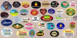 Etiquettes De Fruits °_ Toutes Différentes Sur Papier Siliconé-feuillet N° 15 - Frutta E Verdura