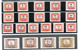 UNGHERIA (HUNGARY) - YV T216B.234  - 1965.1969  POSTAGE DUE (COMPLET SET OF 20,  NO WATERMARK )     - USED° -  RIF.CP - Segnatasse