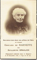 Faire-part Décès LIEGE 1844-1928  Guillemine GRAULICH Veuve De Edouard De MARNEFFE - Obituary Notices