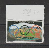 Mali 1992 Série Surchargée PA 558 1 Val ** MNH - Mali (1959-...)