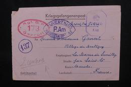 FRANCE / ALLEMAGNE - Formulaire De PG Du Stalag IA En Allemagne Pour St Lo, Avec Contrôles Postaux - L 51753 - Storia Postale