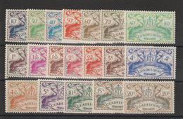 Guadeloupe 1945 Série Londres 178 à 196 19 Val ** MNH - Guadeloupe (1884-1947)