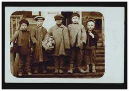 Foto-AK Kinder: Fünf Jungen Aus Wielkie, Beschriftet 17.2.1918 - Unclassified