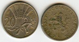 Tchécoslovaquie Czechoslovakia 20 Haleru 1921 KM 1 - Tchécoslovaquie
