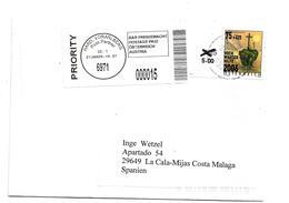 A-RII243/ ÖSTERREICH - Brief, Aufgewertet Nach Spanien - 1945-.... 2a Repubblica