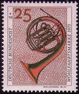 782 Wohlfahrt Musikinstrumente 25+10 Pf Waldhorn ** - [7] Federal Republic