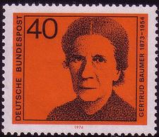 793 Deutsche Frauen 40 Pf Gertrud Bäumer ** - [7] West-Duitsland