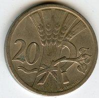 Tchécoslovaquie Czechoslovakia 20 Haleru 1926 KM 1 - Tchécoslovaquie